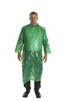 Műanyag műtősköpeny zöld, kötős steril
