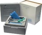 Spermaszállító doboz +hűtőakku 2 jégakkuval+ 2db 20ml fecsk-vel