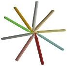 Záródugó 0,25ml szalmához 100db (piros,zöld kék,fehér,sárga,szürke)