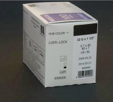Eh. tű 22G x 1 1/2 (0,9 x 40mm) 100db/csomag B.Braun