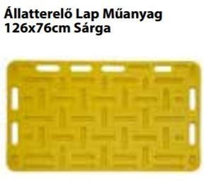 Állatterelő Lap Műanyag 126x76cm Sárga